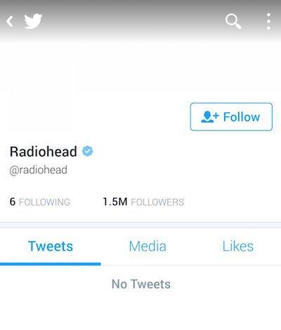 Radiohead Twitter